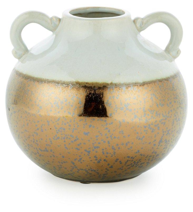 Golden Dipped Vase