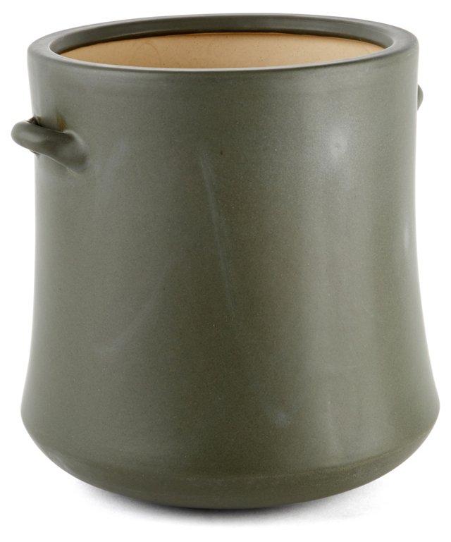 """10"""" Earthenware Vase, Gray"""