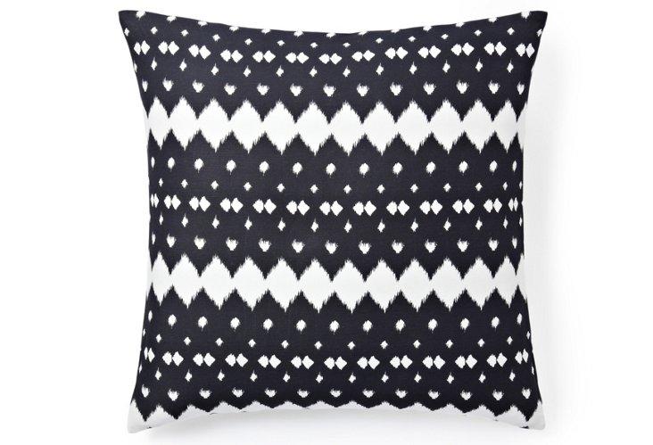 Lattice 20x20 Pillow, Gray