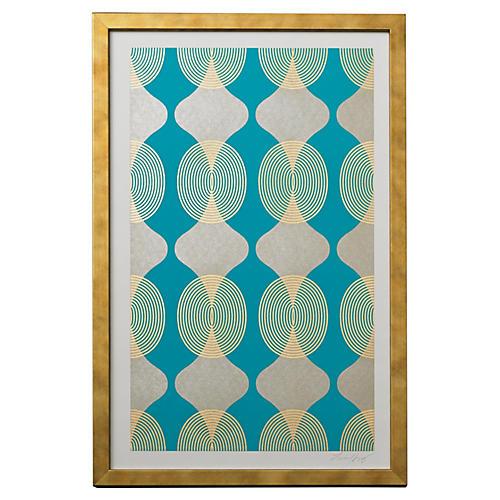 Lisa Hunt, Hourglass Beads, Turquoise