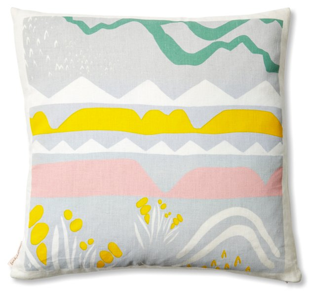 Landscape 16x16 Linen Pillow, Multi