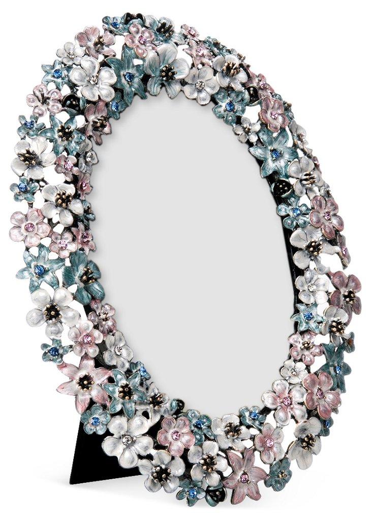 Crystal/Flower Encrusted Photo Frame