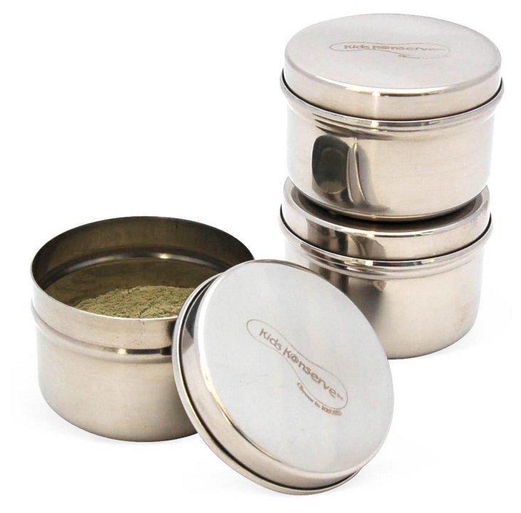 S/3 Mini Containers, Silver
