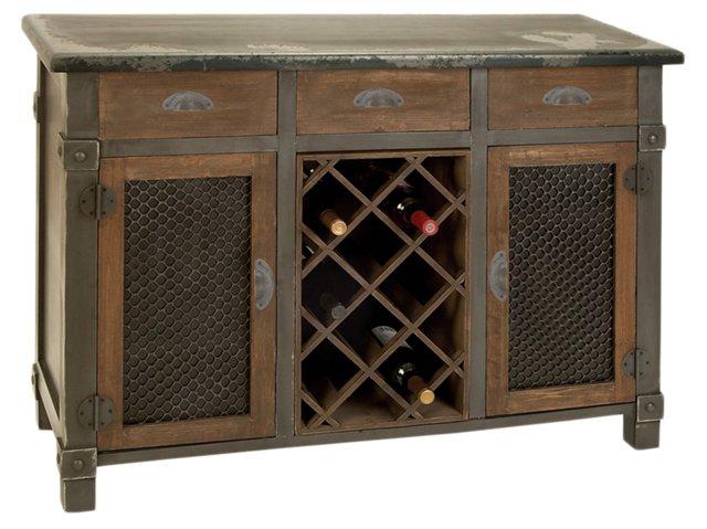 *Phillippe Wine Cabinet, Maple