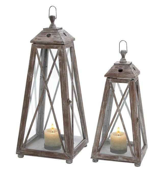 Pyramid Lanterns, Asst. of 2