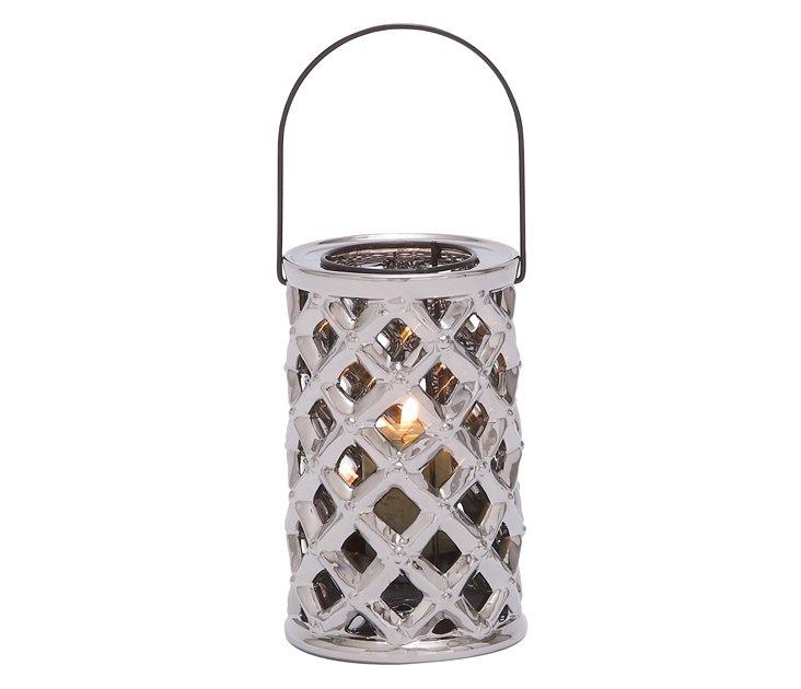 "8"" Woven Ceramic Candleholder"