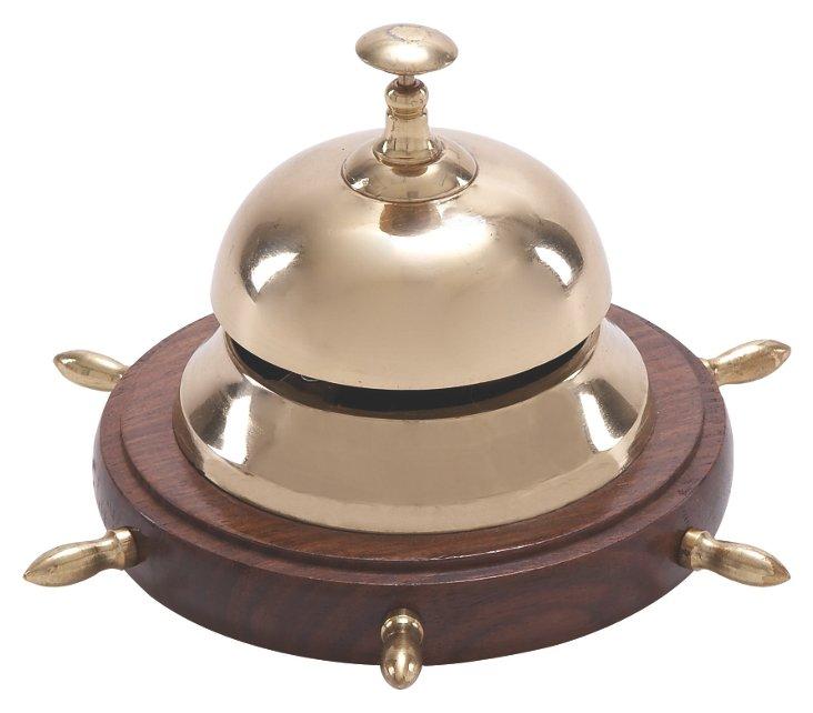 Ship's Wheel Table Bell