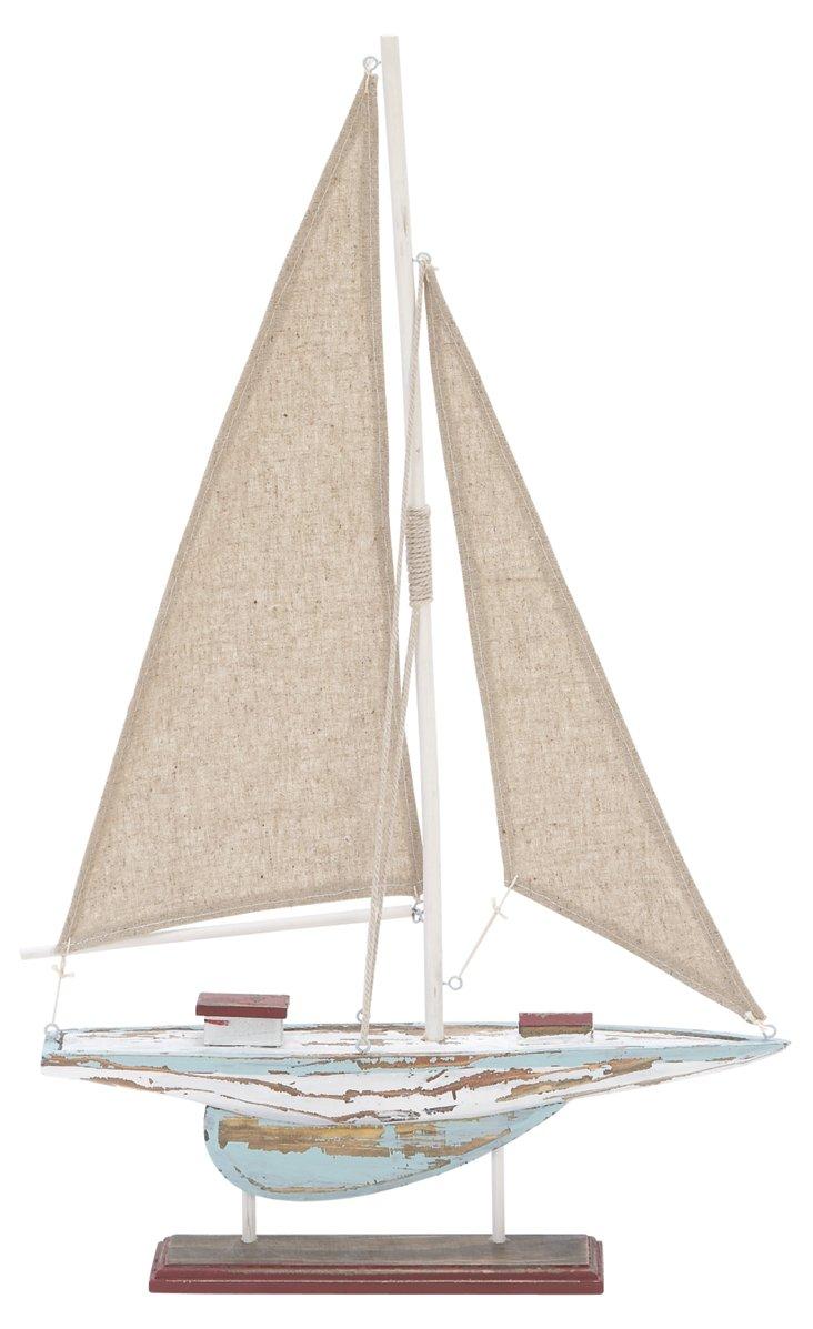 "14"" Sailing Boat Objet"
