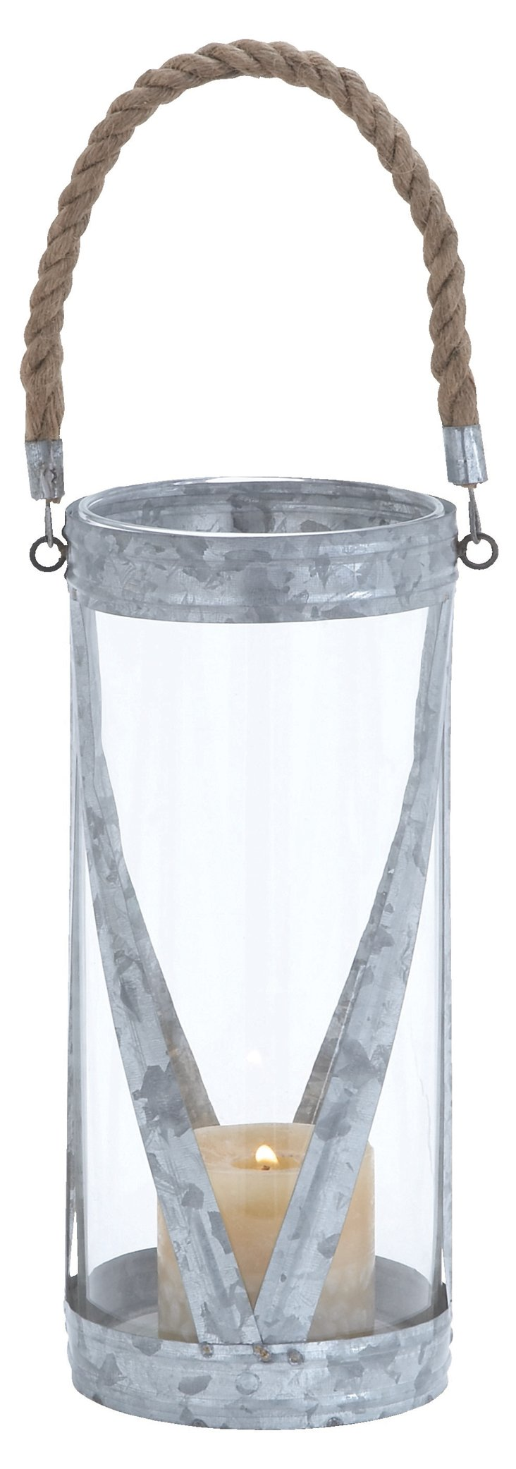 "12"" Metal Rope Candleholder"