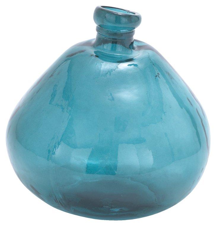 "13"" Melted Glass Vase"