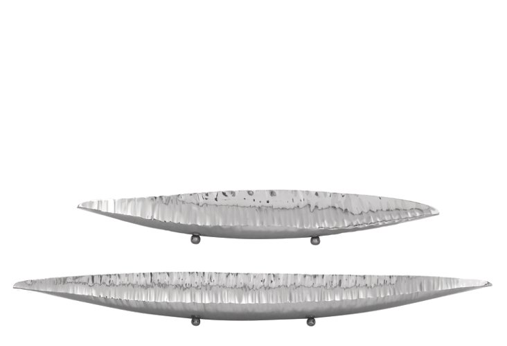 S/2 Stainless Steel Canoe Bowls