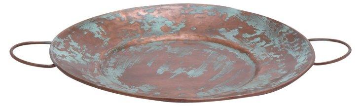 """19"""" Copper Patina Tray"""