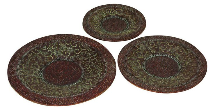Bronze Decorative Trays, Asst. of 3