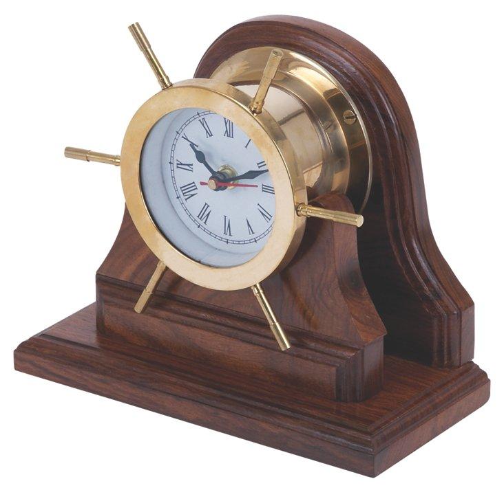"""8"""" Ship Wheel Clock"""