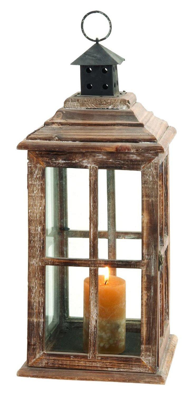 "23"" Weathered Wood Lantern"