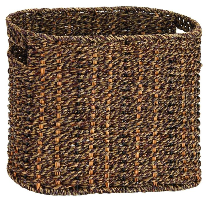 Sea-Grass Magazine Basket