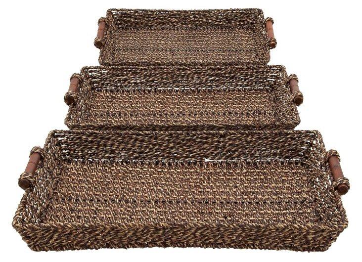 Asst. of 3 Sea-Grass Trays