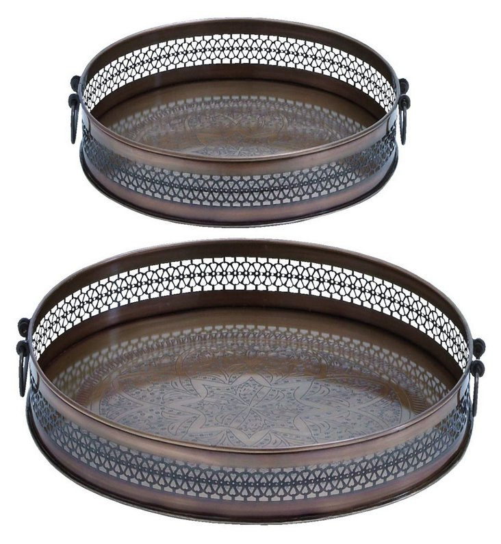 Asst. of 2 Round Pierced Trays