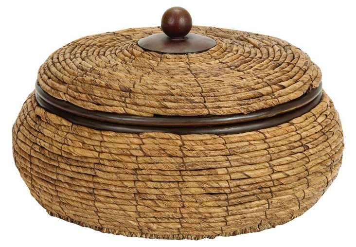 "12"" Wicker Box"