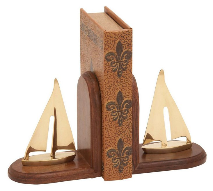 Pair of Sailboat Bookends