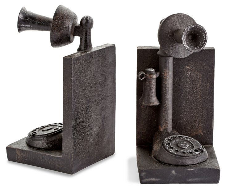 Pair of Phone Bookends