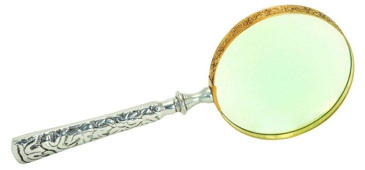Metal & Glass Magnifier