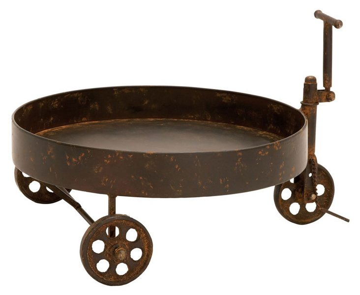 "18"" Barrel Trolley, Brown"