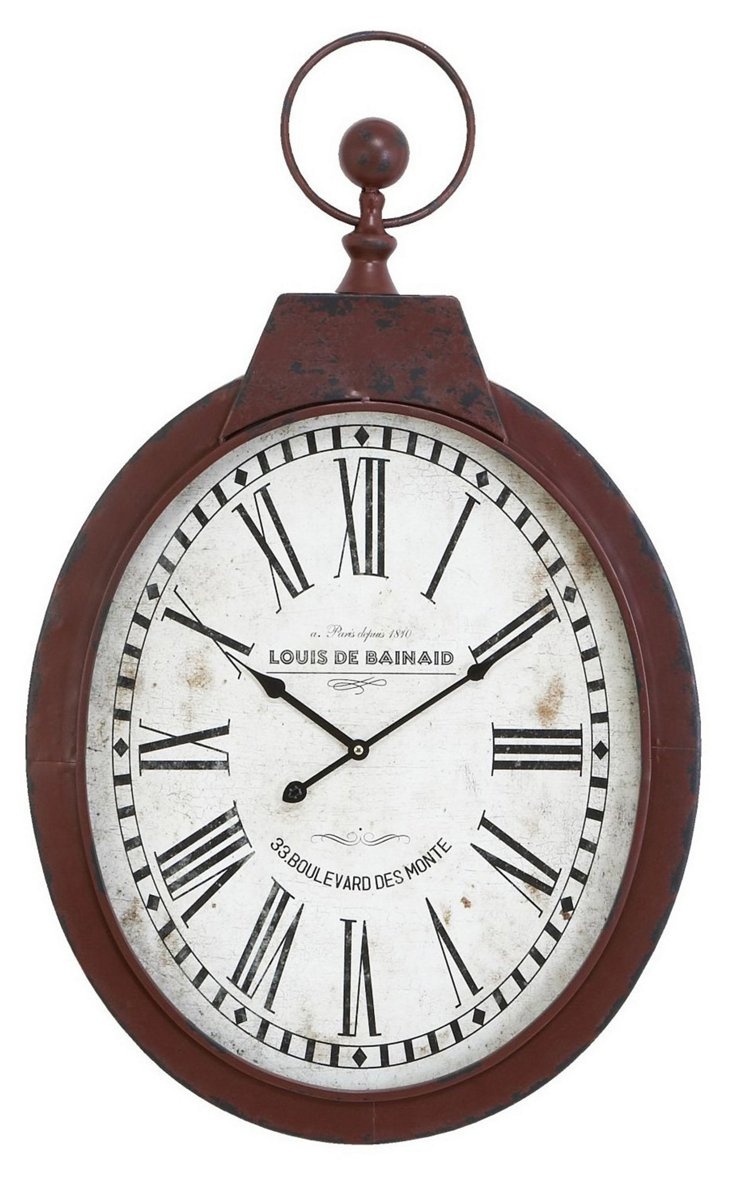 "34"" Rust Wall Clock"