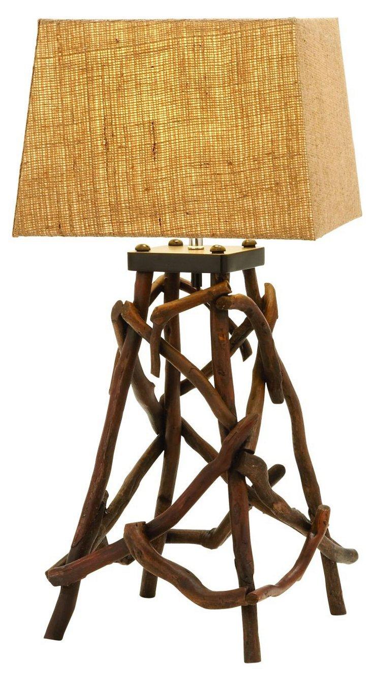 "27"" Driftwood Lamp"