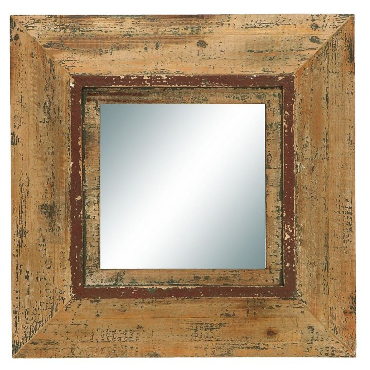 Henry Accent Mirror, Rustic Brown