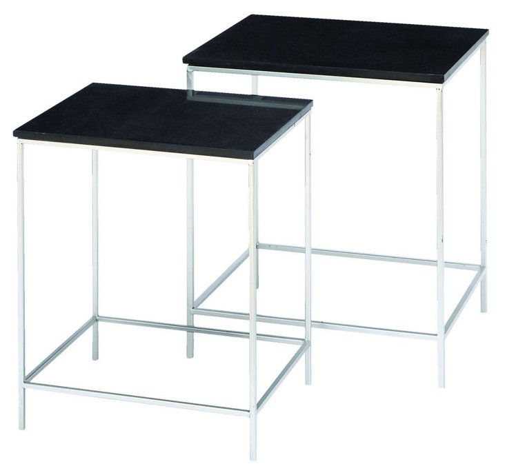 Stella Marble Accent Tables, Set of 2