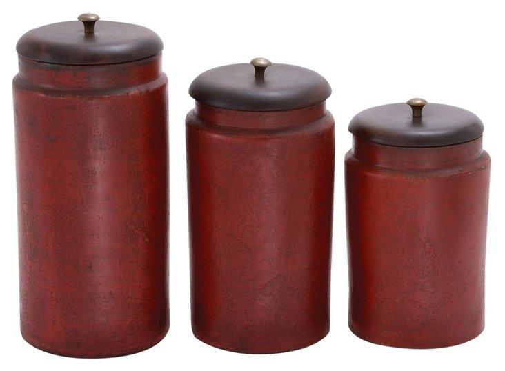 Asst. of 3 Terracotta Jars