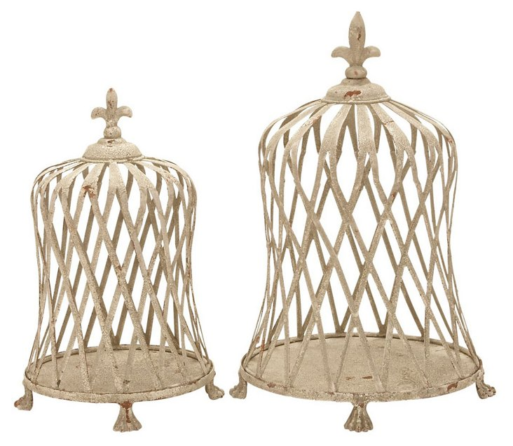S/2 Woven Plant Cloches