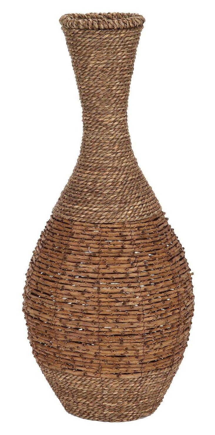 "24"" Rattan Vase"