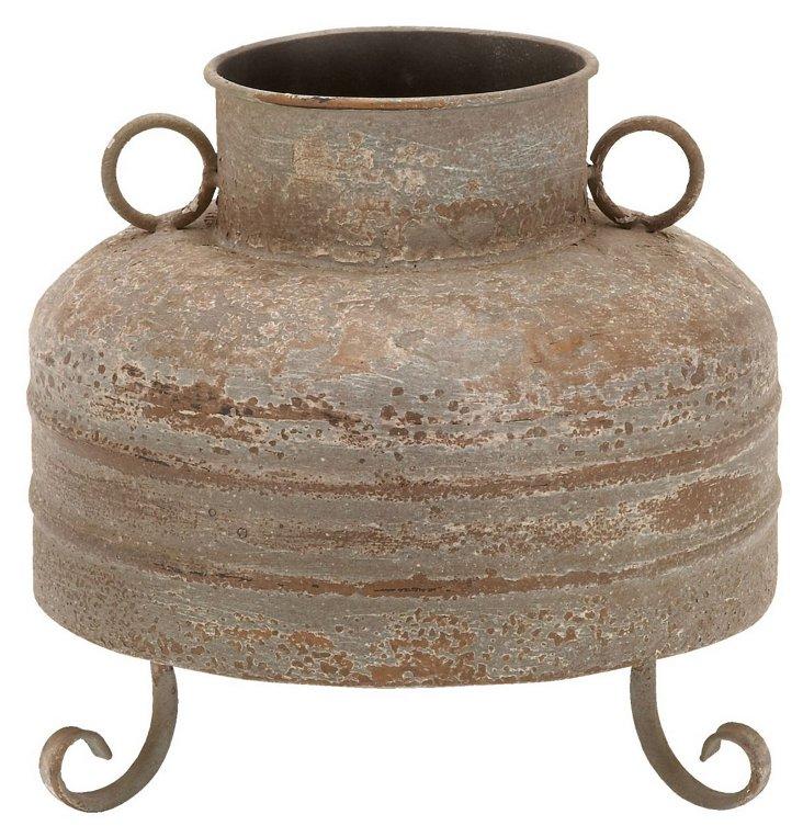 """9"""" Metal Vase"""