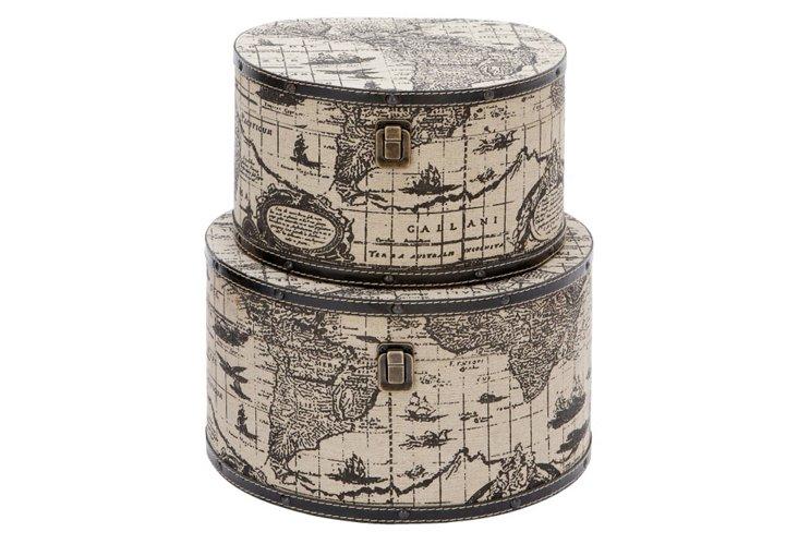 S/2 Round Atlas Boxes