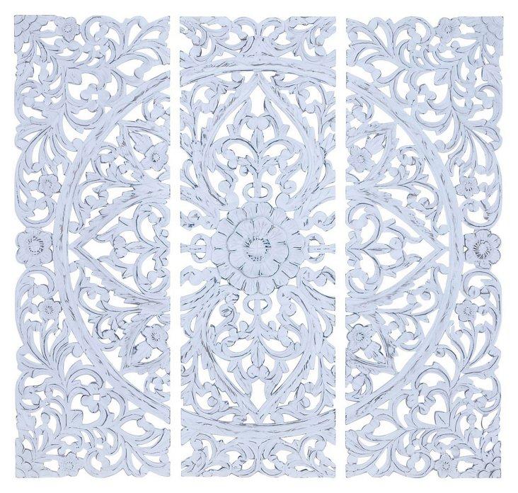 Madeline Wall Decor Set, White