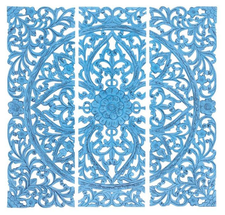 Madeline Wall Decor Set, Blue