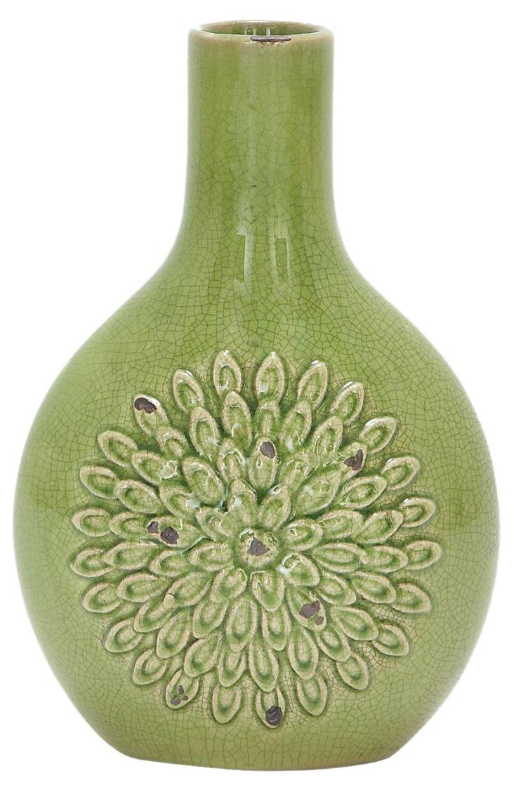 """12"""" Lime Burst Vase"""