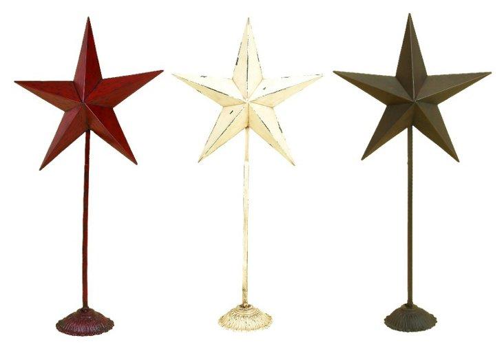 Asst of 3 Star Objets