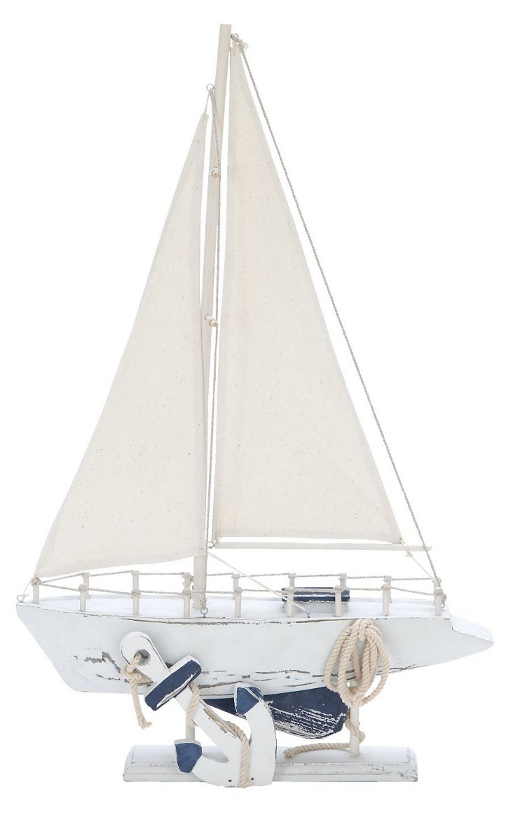 "24"" Hamptons Sailing Boat"