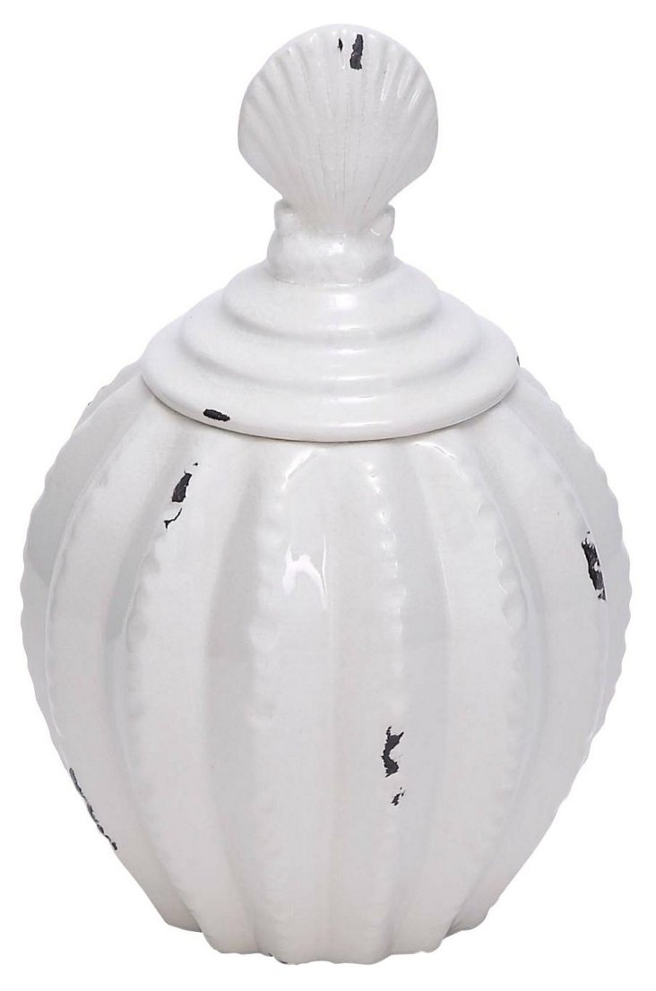 "12"" Shell Jar, White"