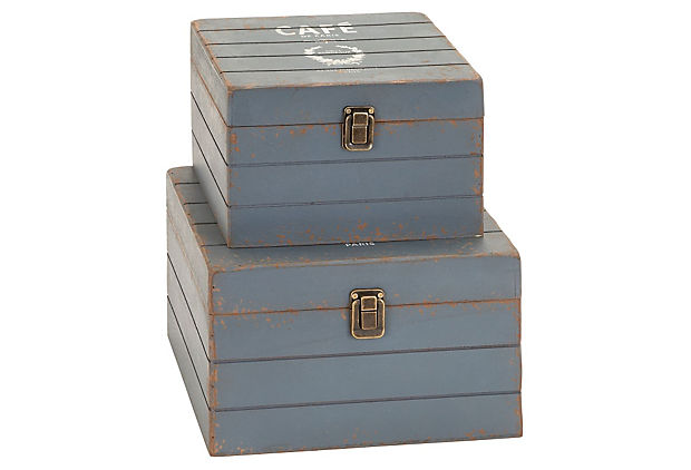 Cafe Wood Boxes, Asst. of 2