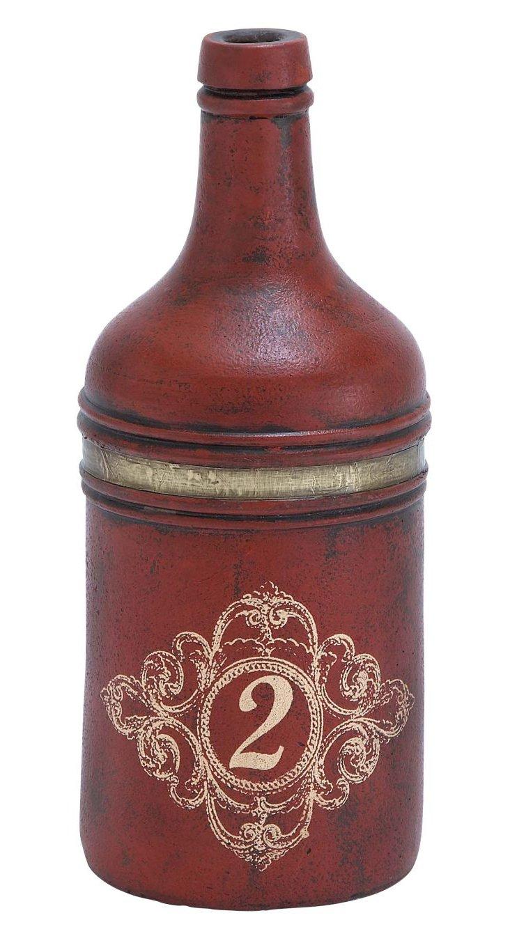 """15"""" Terracotta Bottle, Red"""