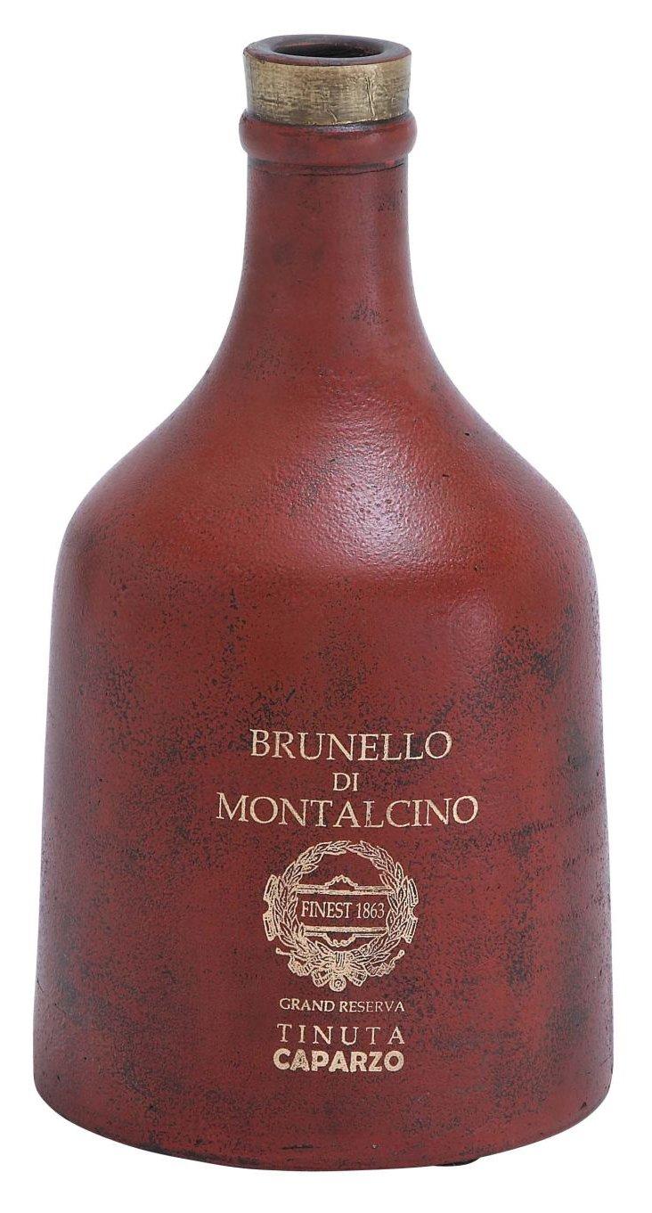 """14"""" Terracotta Bottle, Red"""
