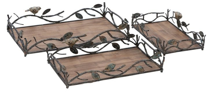 Asst. of 3 Birds & Branches Trays