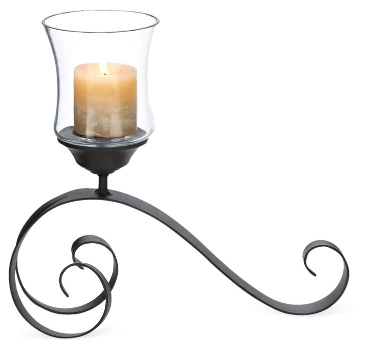 "12"" Cool Scrolled Candleholder"