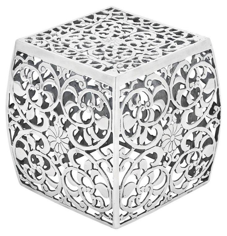 Jaipur Stool, Silver