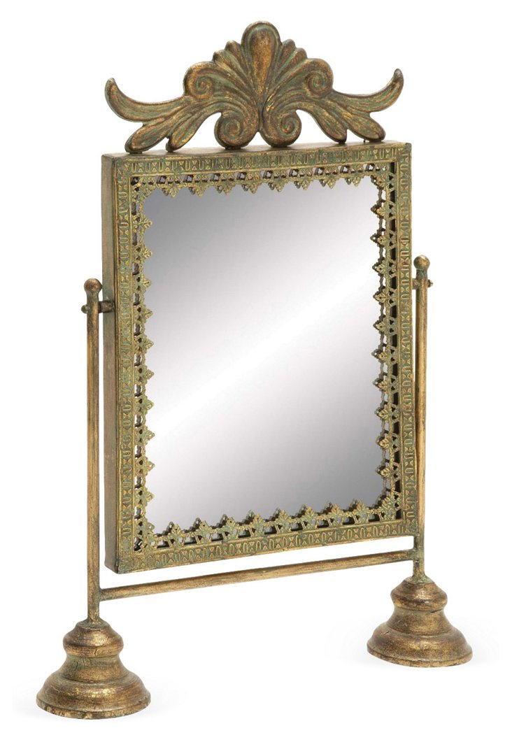 "20"" Gilded Vanity Mirror"