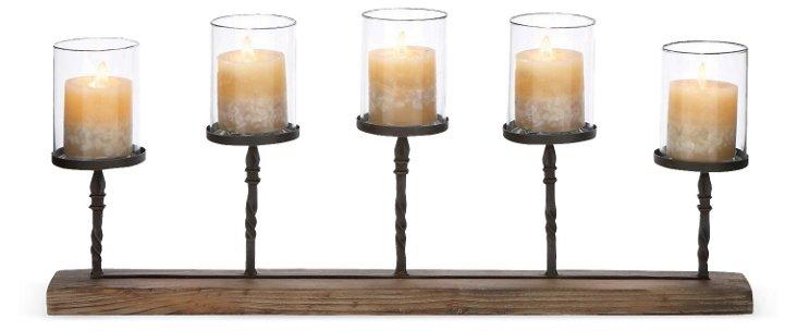 """28"""" Rustic Wood Candleholder"""